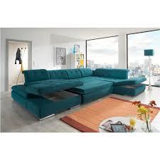 sofa in alpine sectional sofa in green fabric