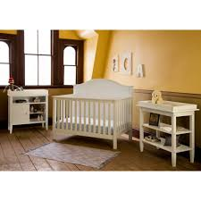 Convertible Cribs Walmart by Lolly U0026 Me Cottage 4 In 1 Convertible Crib Pebble Gray Walmart Com