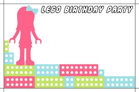 Lego Invitation Cards Lego Friends Birthday Party U2013 16 Bit Crafting
