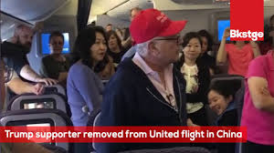 trump supporter removed from united flight in china youtube