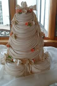 wedding cakes draping peach flowers tamara u0027s cakes oshkosh