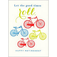 retirement card let the times roll retirement card qp267