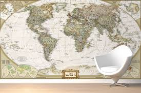 world map wallpaper mural group 0