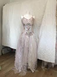 boho wedding dress rose bridal gown rose beach wedding dress rose