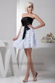 graduation white dresses gorgeous a line black and white party graduation dresses