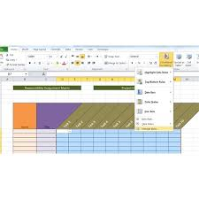 Sle Raci Project Management Template Rasci Matrix Template