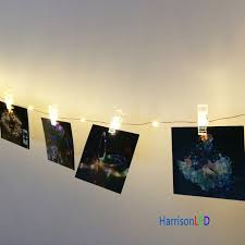 hanging pictures with wire and clips harrisontek10x 33ft100 led holiday lights copper wire photo hanging