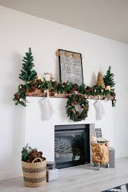 fireplace mantel makeover and decorations