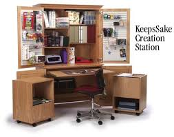Creation Station Desk Scrapbook Furniture For Organizing And Storing Your Supplies