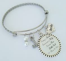 wedding gift from parents wedding gift bangle bracelet personalized