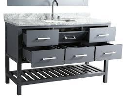 furniture home abuetta 54 inch white finish single sink
