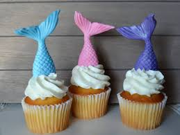 mermaid cupcakes mermaid cupcake topper fondant mermaid cupcake topper