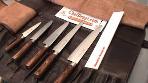 Case Kitchen Knives by Leather Knife Case Youtube