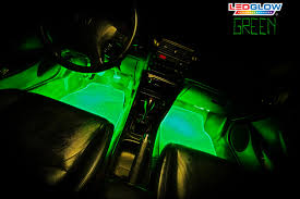 ledglow s 4pc green led interior kit
