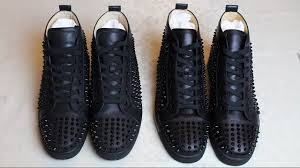 real vs fake guide christian louboutin louis flat calf spikes