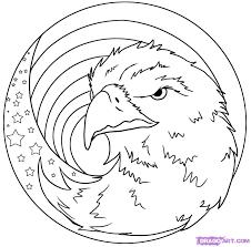 american eagle coloring page virtren com