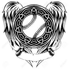abstract vector illustration black and white baseball on