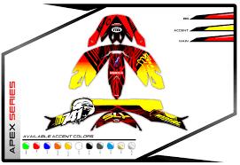 661 motocross helmet helmet wraps primal x motorsports motocross graphics atv