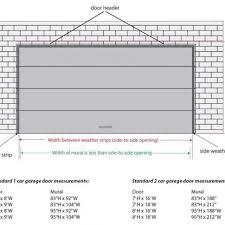 garage doors two car garage door panels standard width opener