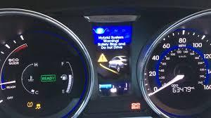 2013 hyundai sonata hybrid charging system error youtube