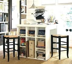 counter height desk with storage crafting table with storage sewing tables and storage magnificent