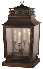 Craftmade Exterior Lighting Jackson Pier Base Column Mount Copper Lantern Copper Lantern