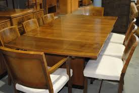 art deco dining table antique furniture walnut style and chairs
