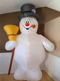 gemmy frosty the snowman 10 ft tall airblown illuminated