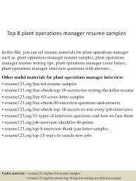 plant manager resume top 8 plant operations manager resume sles 1 638 jpg cb 1431769236