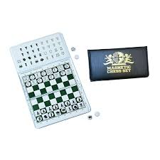 amazon com we games magnetic checkbook chess set great for