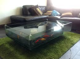 fish tank coffee table diy aquarium table basse aquarium de table coffee table coffee table