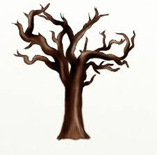how to draw a dead tree feltmagnet