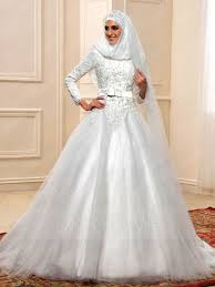 wedding dress for muslim charming beading sleeves gown muslim wedding dress