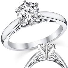 solitare ring moissanite solitaire rings settings moissaniteco