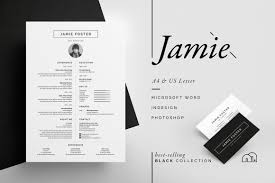 Best Resume Font Mac by Resume Cv Jamie Resume Templates Creative Market