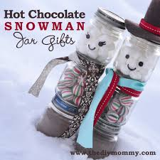 a handmade christmas make a snowman chocolate jar gift the