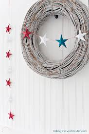 4th Of July Bunting Decorations 3d Stars Patriotic Bunting Crafts