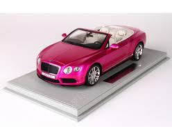 bentley car pink continental gt v8 s flash pink limited 20 pcs with display case