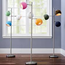modern floor lamps with three colorful orbs home design and interior