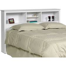 24 Inch Wide White Bookcase by Prepac Monterey Full Queen Bookcase Headboard In White Walmart Com