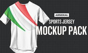 sports jersey mockup template pack by go media