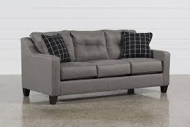 laryn khaki sofa living spaces brindon charcoal sofa