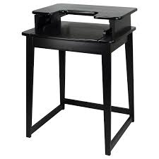 wood metal desk amazon com casual home freestyle stand up desk with leg kitchen