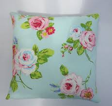 Shabby Chic Pillow Shams by Aqua And Pink Cushion Cover Shabby Chic Style Pillow Cover