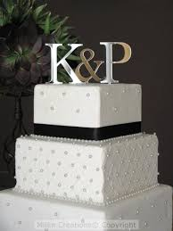 wedding cake toppers initials sale on silver two initials cake topper for wedding cake 2440628