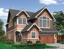 plan 69089am new england style narrow lot plan craftsman arch