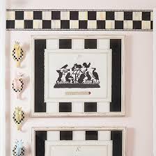 mackenzie childs courtly check wallpaper border
