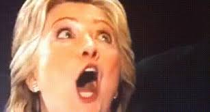 hillary clinton s surprised face blank template imgflip