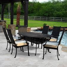carondelet 7 piece wicker patio dining set w 84 inch oval patio