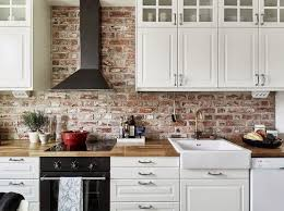 kitchen brick backsplash white brick wall texture interior background design ideas and